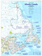 Atlantic Canada Map Side 1 1993