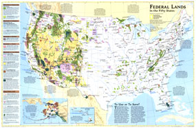 United States Federal Lands Map 1996