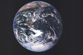 Earth From Space Map 1973