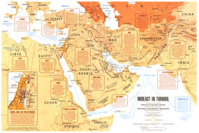 Mideast In Turmoil Map 1980