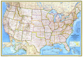 Americas Federal Lands Map 1982