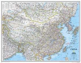 National Geographic China Wall Map