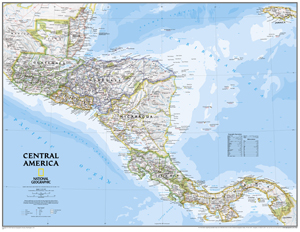 Learn About Panama with the National Geographic Central America Wall Map