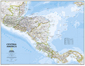 National Geographic Central America Wall Map