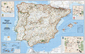 National Geographic Spain and Portugal Wall Map