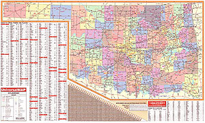 Oklahoma Wall Map