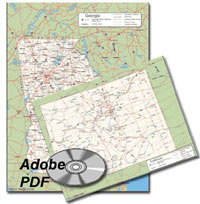 US States County PDF maps on CD