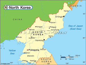 North Korea Political Base Digital Map From Maps Com