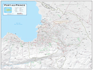 Port-au-Prince, Haiti Wall Map