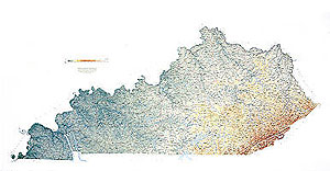 Kentucky Wall Map