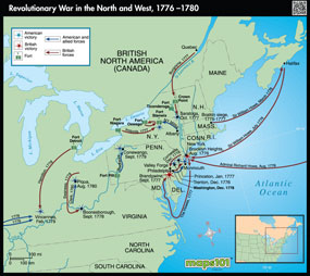 Revolutionary War in the North and West, 1776-1780