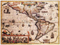 America Antique Wall Map