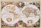 World Antique Wall Map