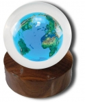 Crystal Earth Sphere Paperweight