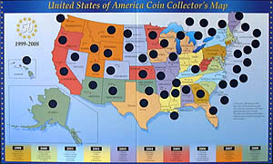 USA State Coin Collector's Map