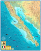 Baja Mexico Map Wall Map