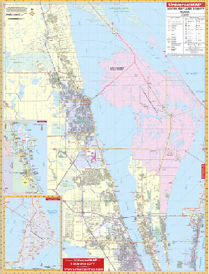 Brevard County North, Florida Wall Map