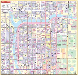 Chicago Loop, Illinois Wall Map