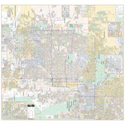 Phoenix, Arizona Wall Map