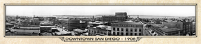 Historic Panorama of Downtown San Diego, CA 1908