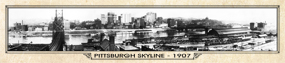 Historic Panorama of Pittsburgh, PA 1907