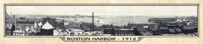 Historic Panorama of Boston, MA, Harbor 1912