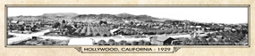 Historic Panorama of Hollywood, CA, 1929