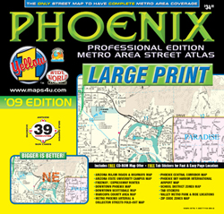 Phoenix Professional Atlas Large Print by Wide World of Maps from