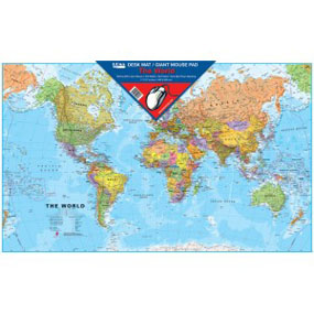World Map Desk Mat/Giant Mouse Pad