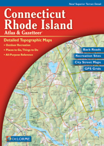 Connecticut Rhode Island Atlas and Gazetteer
