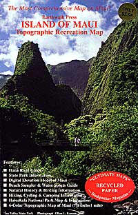 Maui, HI Topo and Recreation Travel Map