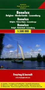 Benelux Belgium, The Netherlands and Luxembourg Travel Map