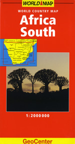 Africa, Southern Travel Map