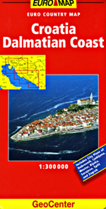 Croatia Coast, Dalmatia Travel Map