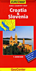 Croatia and Slovenia Travel Map