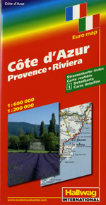 Provence, France Travel Map