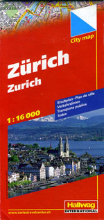 Zurich, Switzerland Street Map