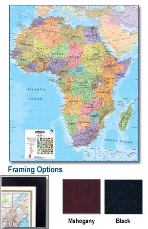 Africa Framed Wall Map