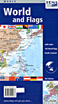 Pacific Centered World with Flags Travel Map