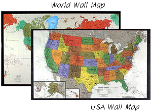 Contemporary USA and World Map Set