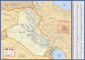 IRAQ Deluxe Political Wall Map with Index