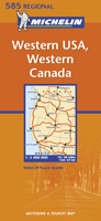 USA, Western and Western Canada Travel Map