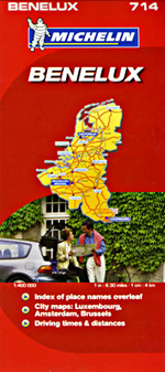 Benelux (Belgium, Netherlands, Luxembourg) Travel Map