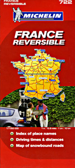 France, Reversible Travel Map