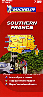 France, Southern Travel Map