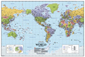 North America Centered World Wall Map