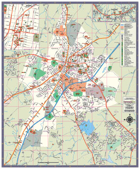 Map of Harrisonburg, Virginia