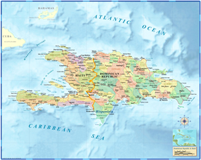 Haiti-Dominican Republic Wall Map