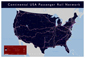 USA Passenger Rail Network Wall Map