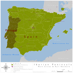 Iberian Peninsula Wall Map By Caio Fernandes From Maps Com